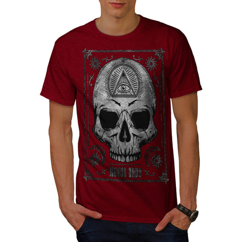 Skull Devil Head Eye Mens T-Shirt