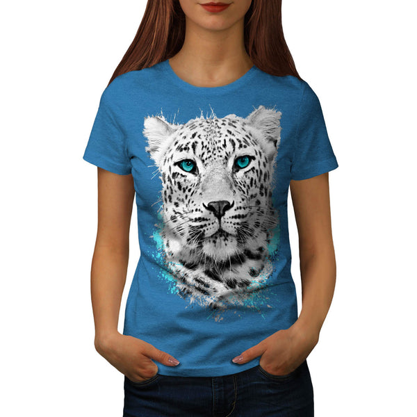Blue-Eyed Leopard Womens T-Shirt