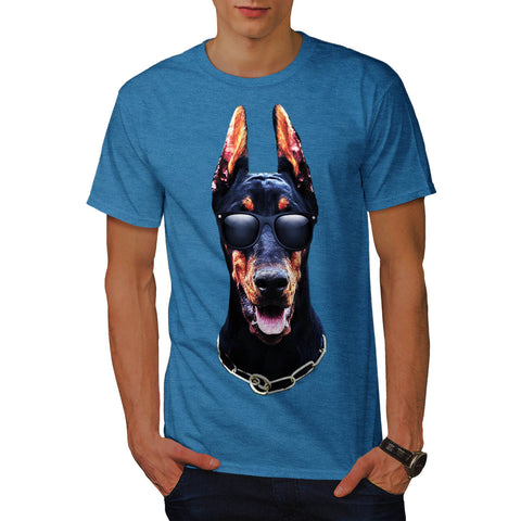 Mafia Dog Head Fun Mens T-Shirt