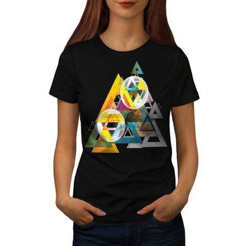Triangle Sun System Womens T-Shirt