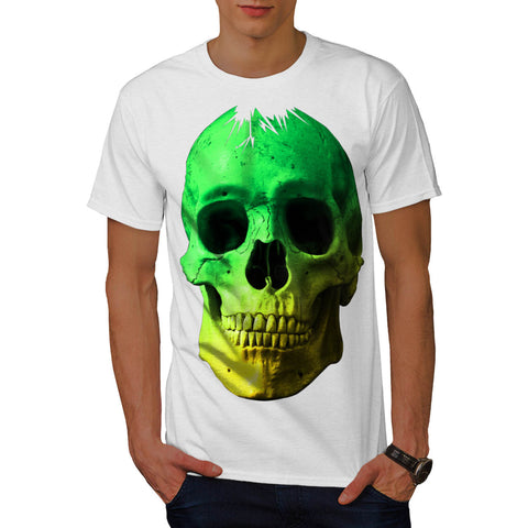 Skull Glow Head Art Mens T-Shirt