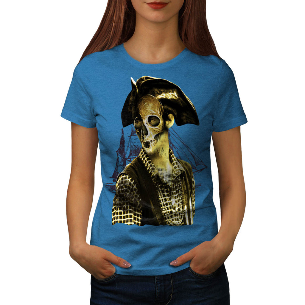 Skull Pirate Mask Womens T-Shirt