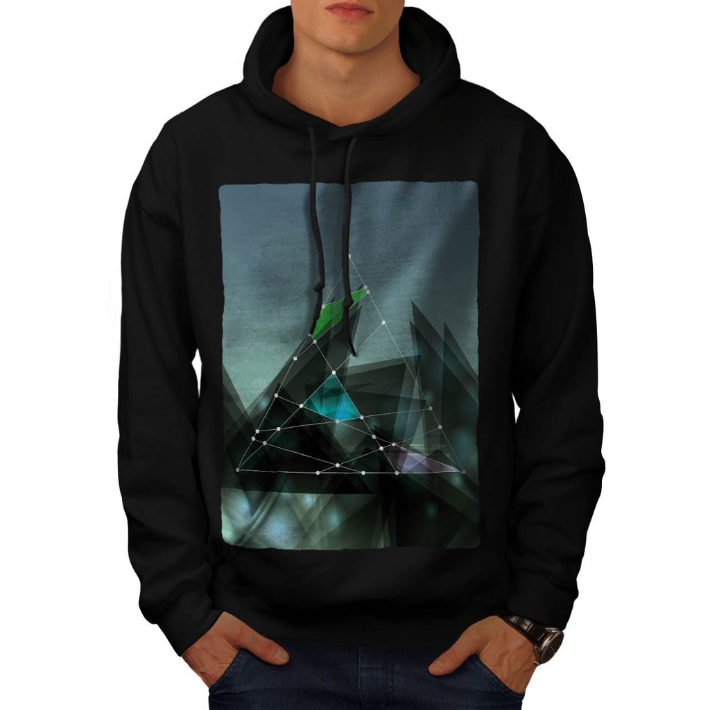 Graphic Shape Pattern Mens Hoodie