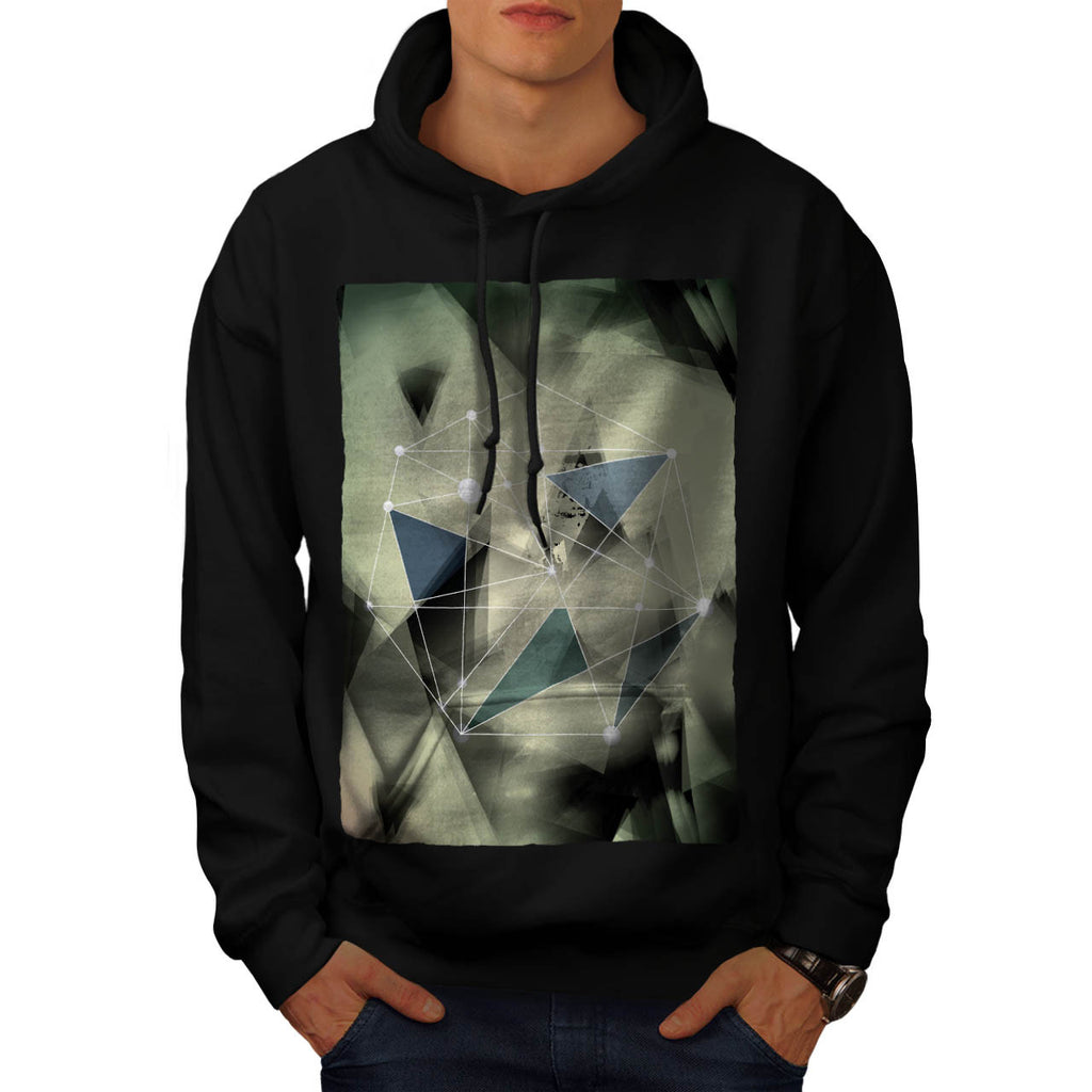 Crazy Abstract Print Mens Hoodie
