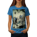 Crazy Abstract Print Womens T-Shirt