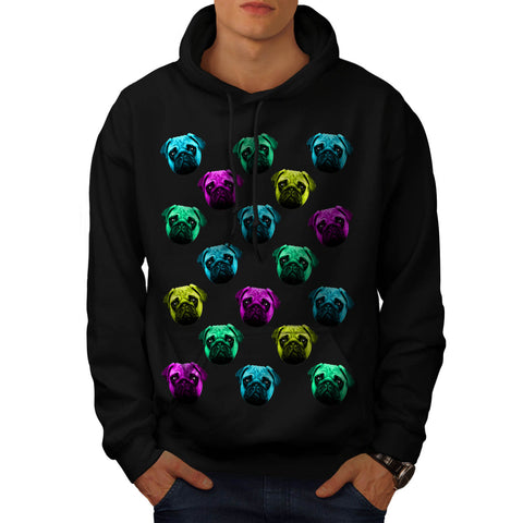 Multiple Puppy Face Mens Hoodie