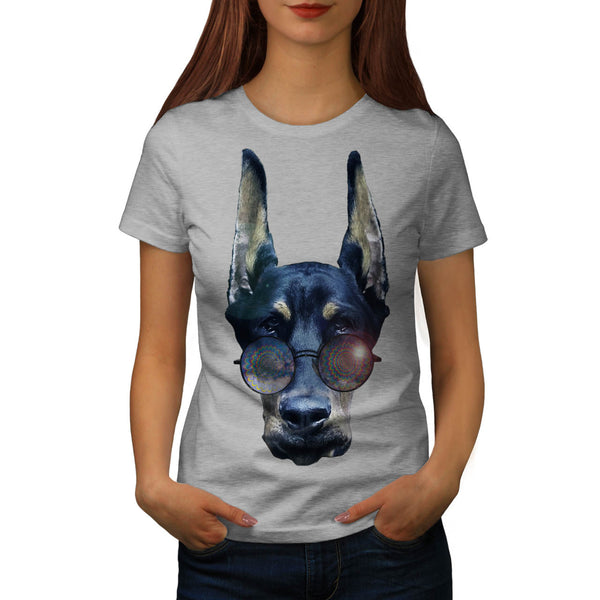 Professor Dog Head Womens T-Shirt