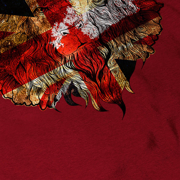 British Flag Lion Womens T-Shirt
