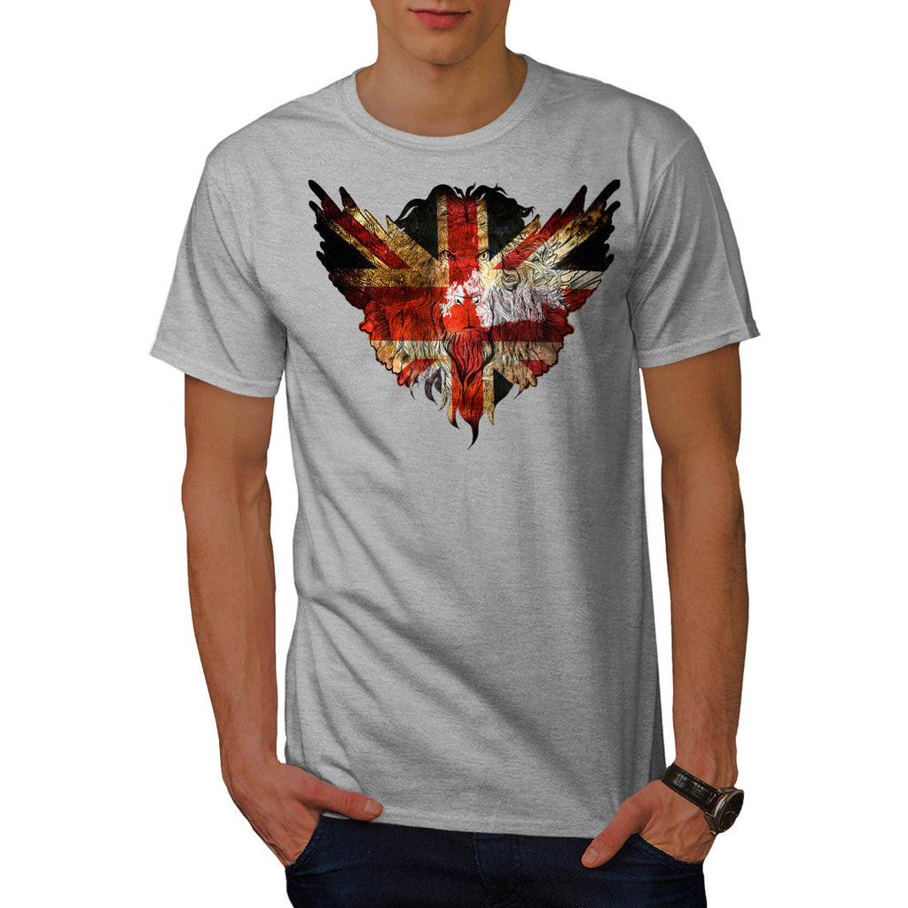 British Flag Lion Mens T-Shirt