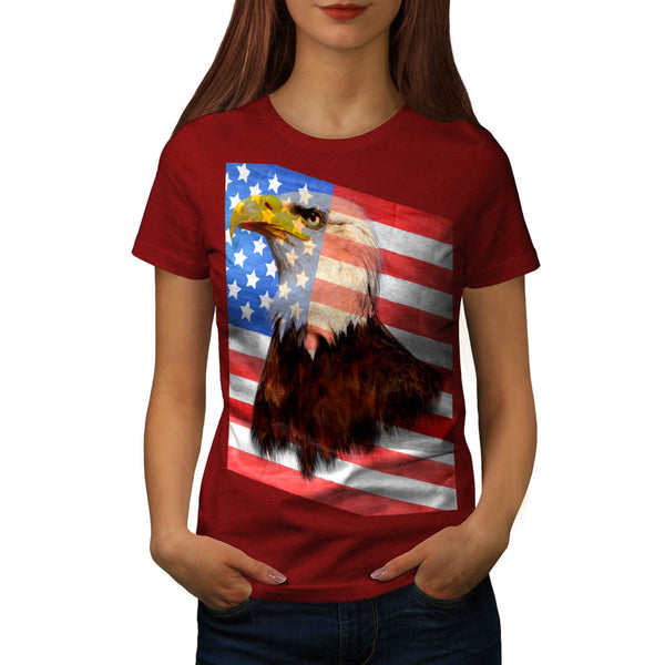 Freedom Eagle Flag Womens T-Shirt