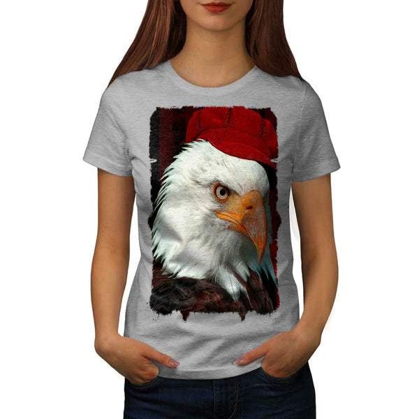 Scary Eagle With Hat Womens T-Shirt