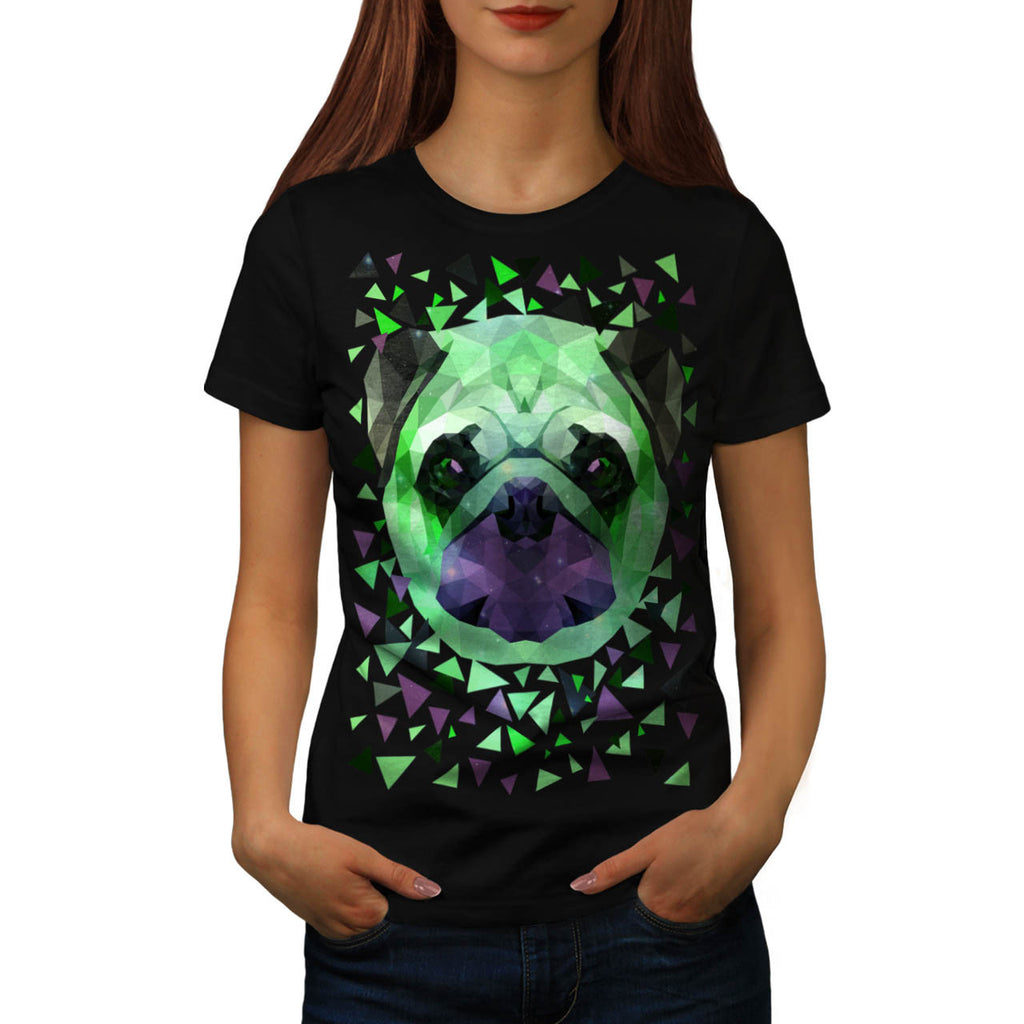 Mop Dog Face Funny Womens T-Shirt