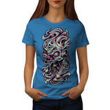 Skull Zombie Horror Womens T-Shirt