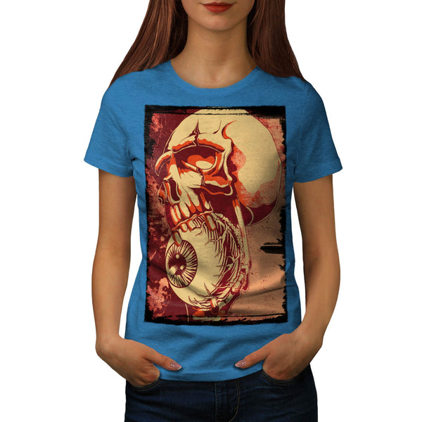 Skull Beast Eye Art Womens T-Shirt