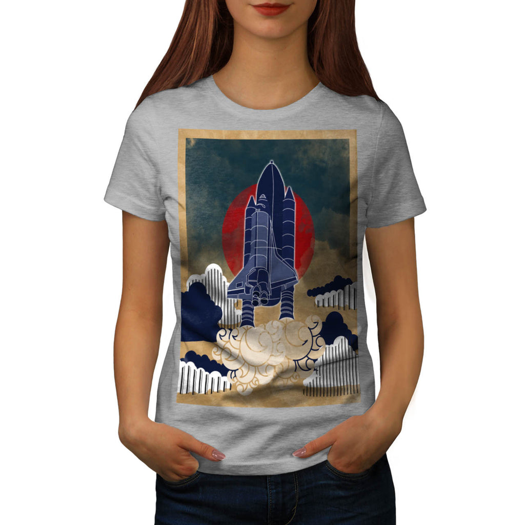 Space Rocket Launch Womens T-Shirt
