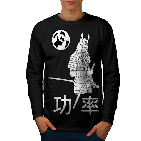 White Samurai Fury Mens Long Sleeve T-Shirt