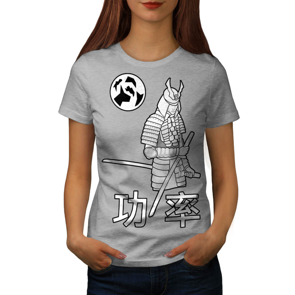 White Samurai Fury Womens T-Shirt