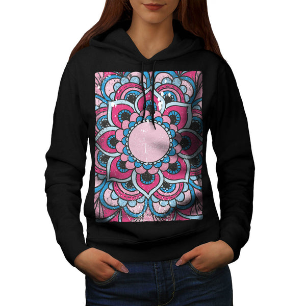 Indian Flower Bloom Womens Hoodie