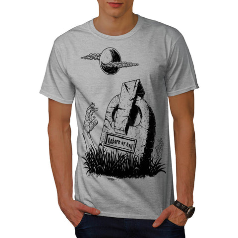 Cemetery Tomb Hand Mens T-Shirt