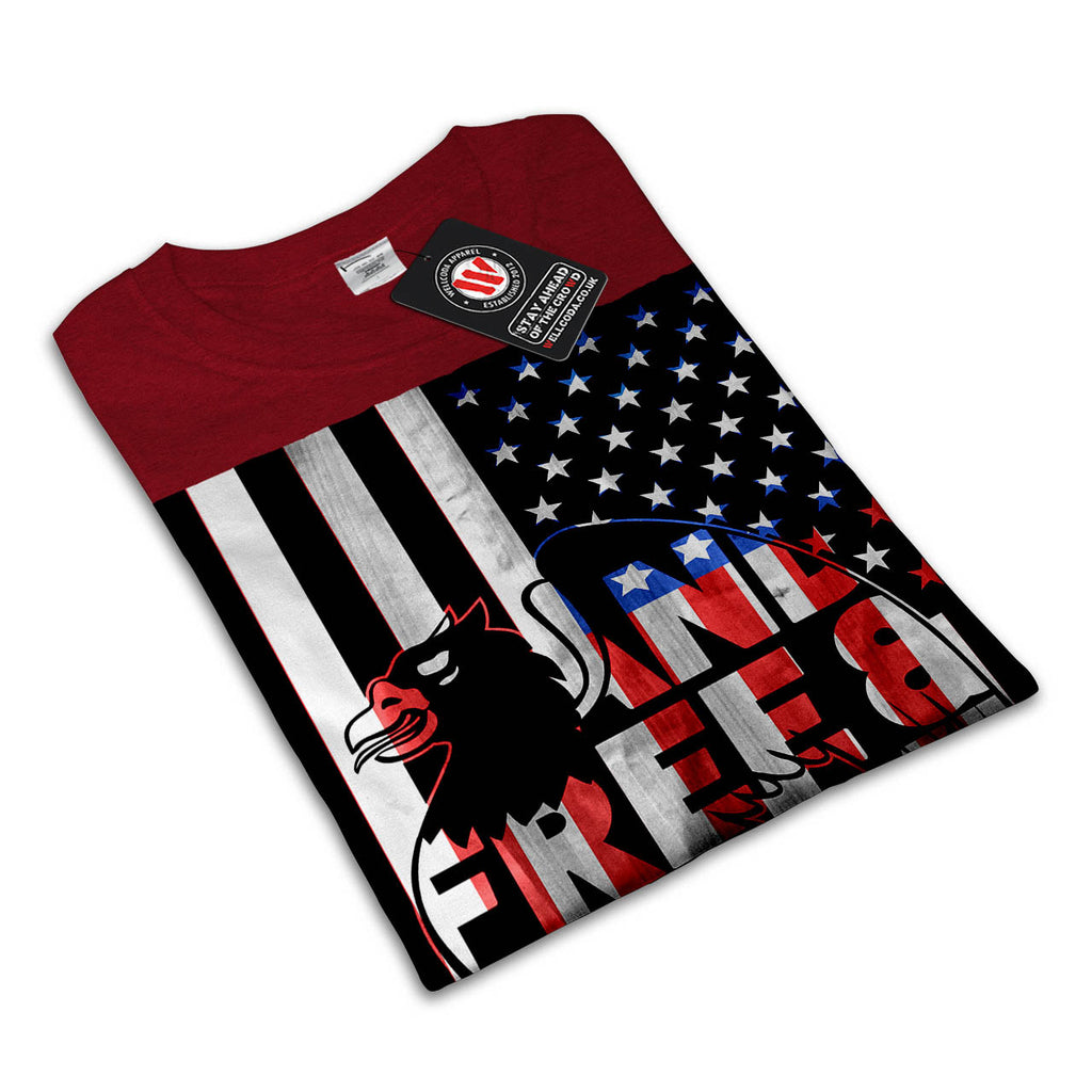 American Hawk Flag Womens T-Shirt