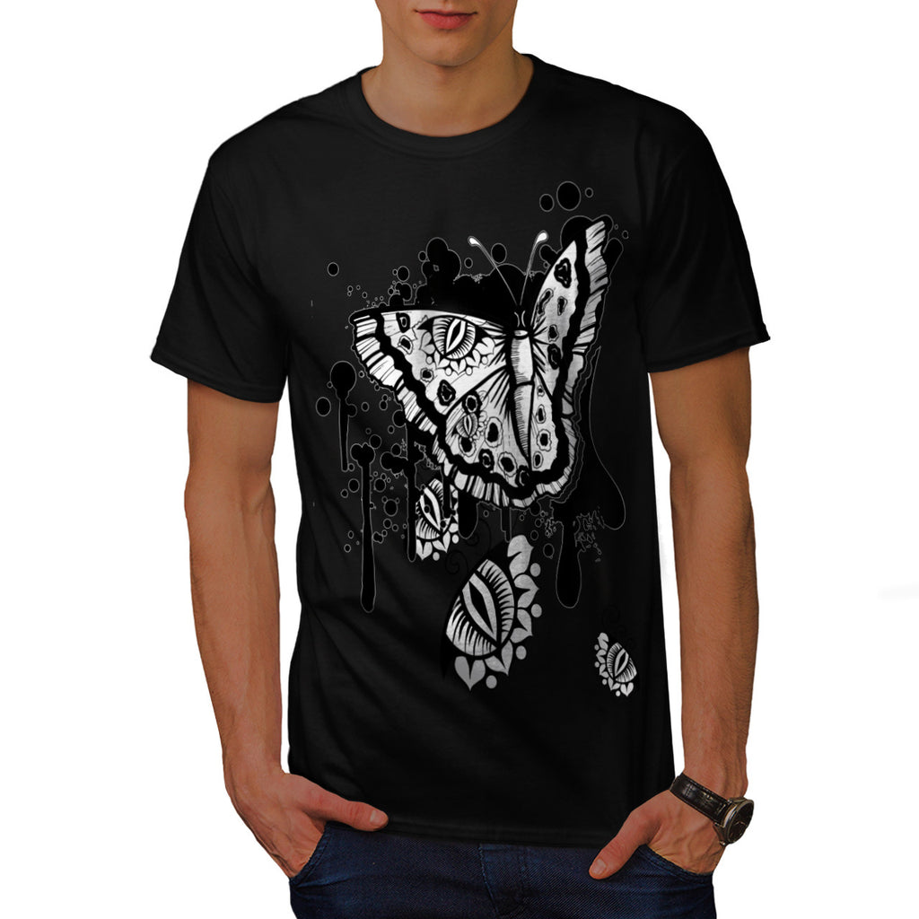 Graphic Butterfly Mens T-Shirt