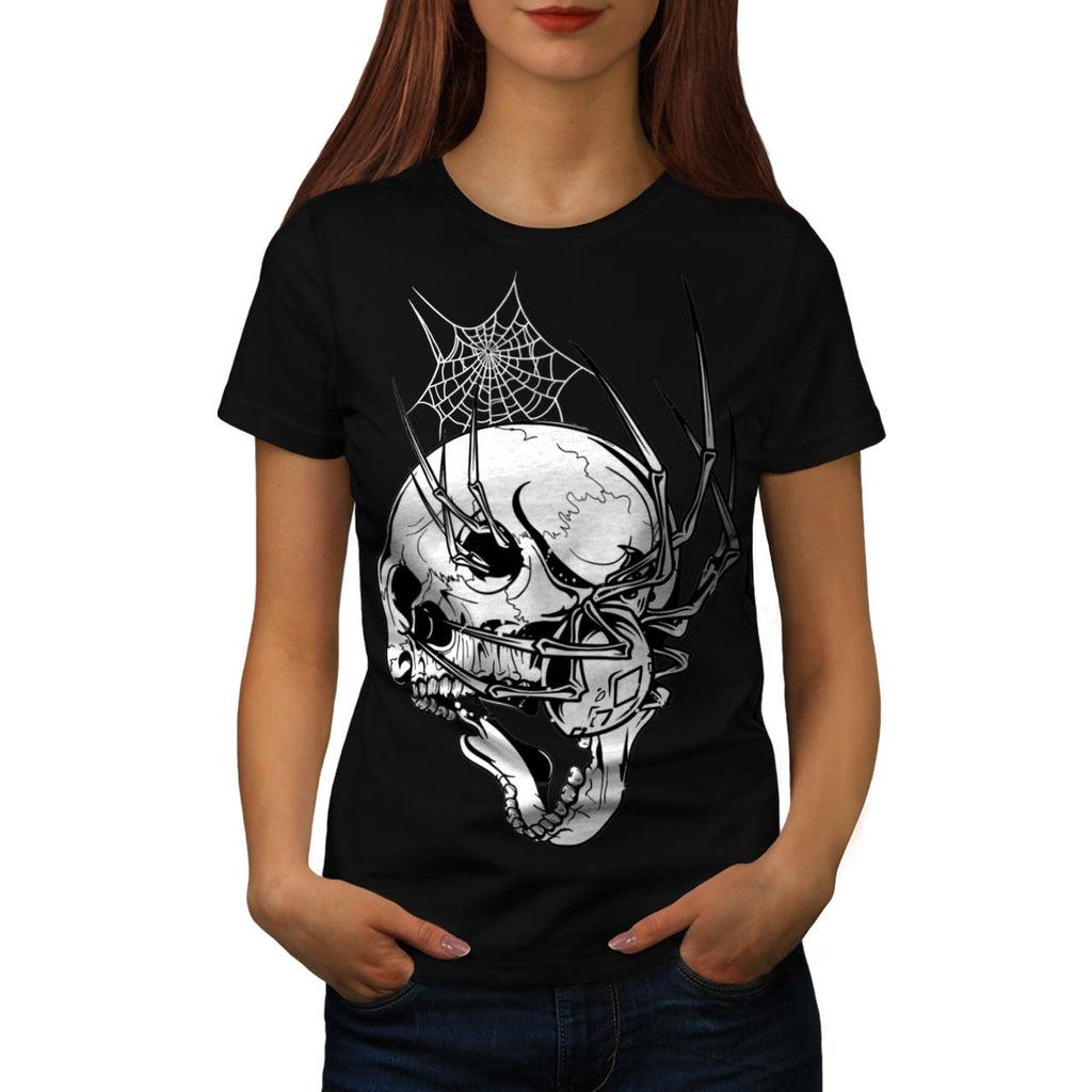 Skull Beast Horror Womens T-Shirt