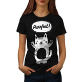 Happy Smiley Cat Womens T-Shirt