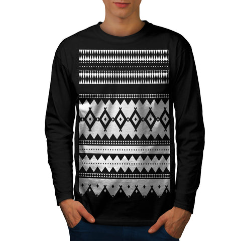 Tribal Style Design Mens Long Sleeve T-Shirt