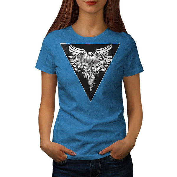 Owl Flight Print Womens T-Shirt