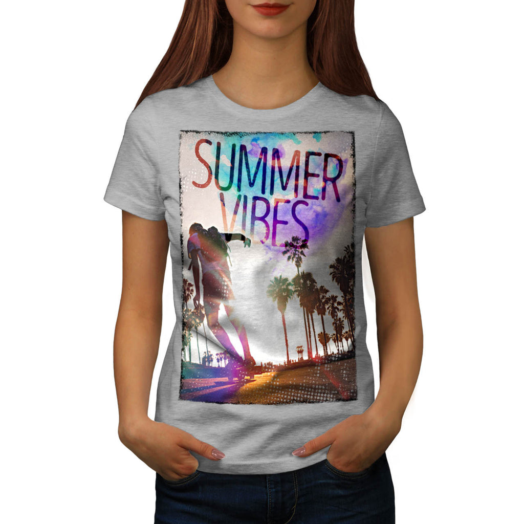 Summer Heat Vibes Womens T-Shirt