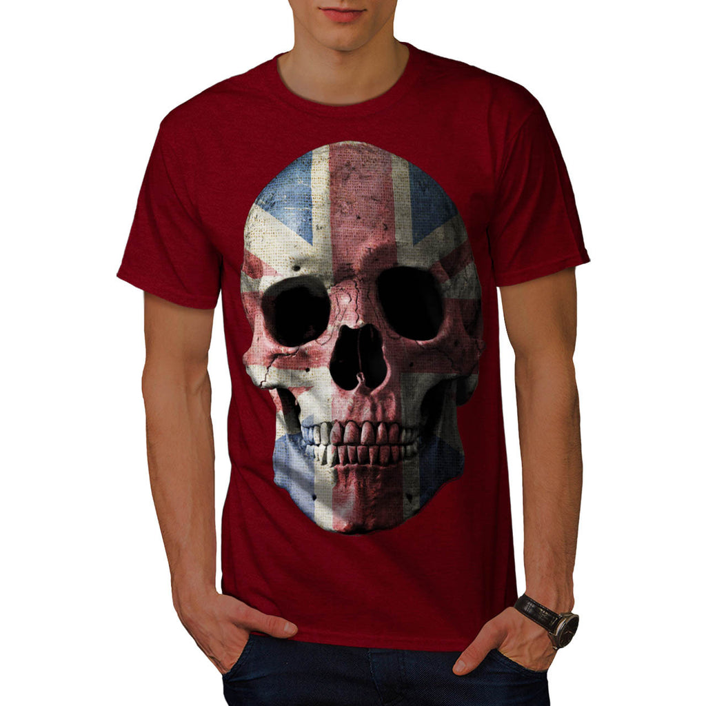 British Flag Skull Mens T-Shirt