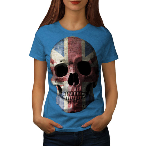 British Flag Skull Womens T-Shirt