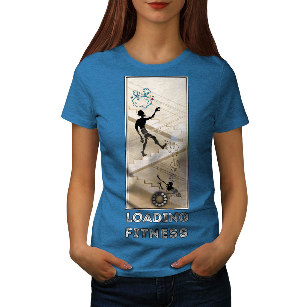 Zombie Keeping Fit Womens T-Shirt