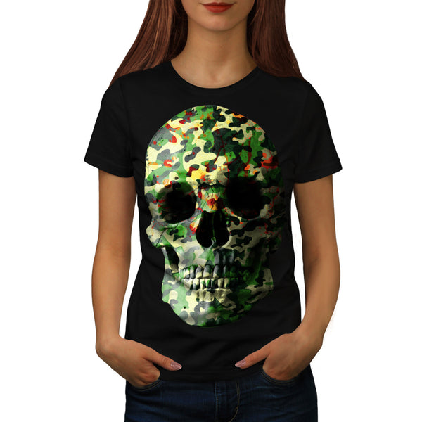 Skull Sugar Head Art Womens T-Shirt