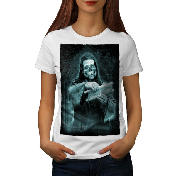 Skull Religion Mask Womens T-Shirt