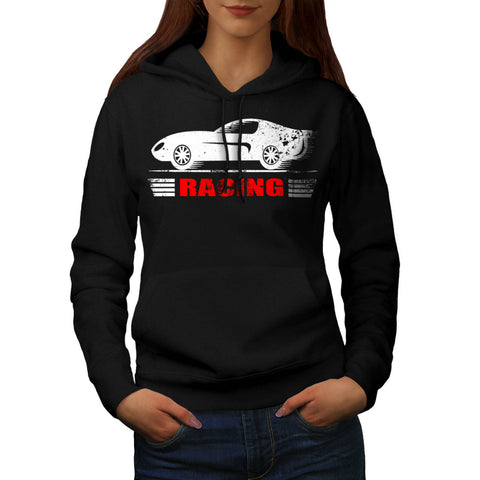 Vintage Racing Car Womens Hoodie