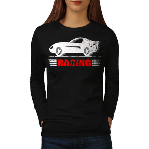 Vintage Racing Car Womens Long Sleeve T-Shirt