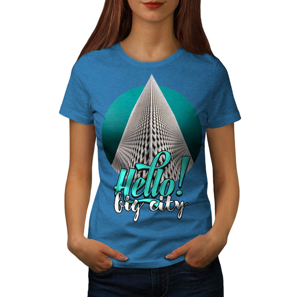 Hello Big City Theme Womens T-Shirt