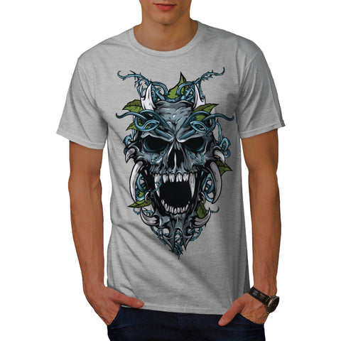 Evil Horror Skull Mens T-Shirt