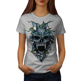 Evil Horror Skull Womens T-Shirt