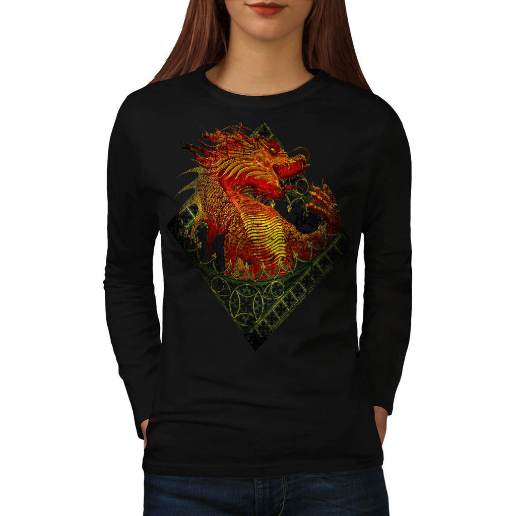 Dragon Fantasy Beast Womens Long Sleeve T-Shirt