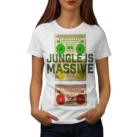 Massive Jungle Music Womens T-Shirt