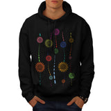 Colour Chain Pattern Mens Hoodie