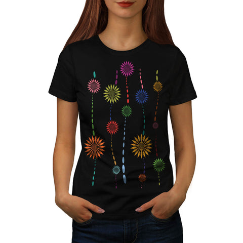 Colour Chain Pattern Womens T-Shirt