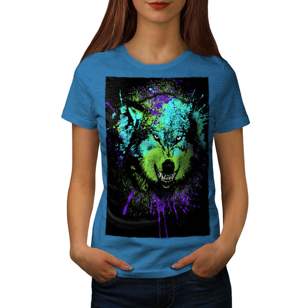 Predator Wolf Face Womens T-Shirt