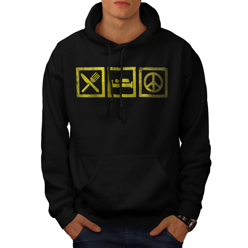 Eat Sleep Make Peace Mens Hoodie