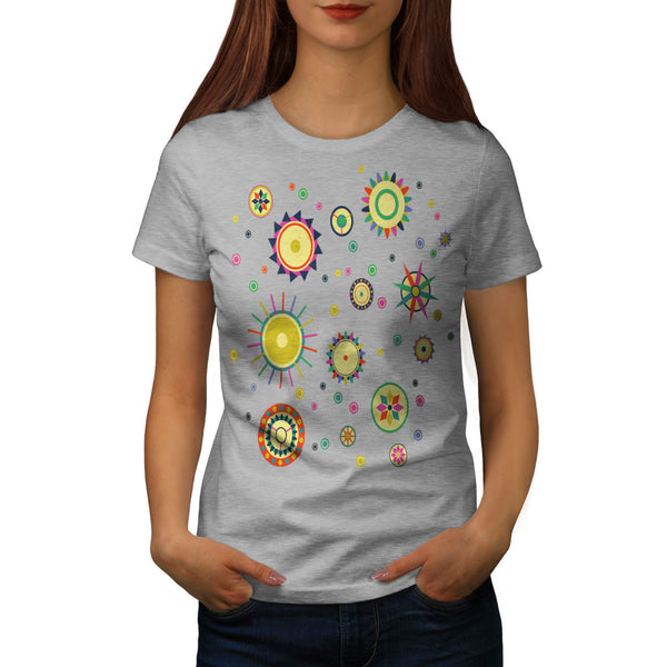 Geometric Space Fun Womens T-Shirt