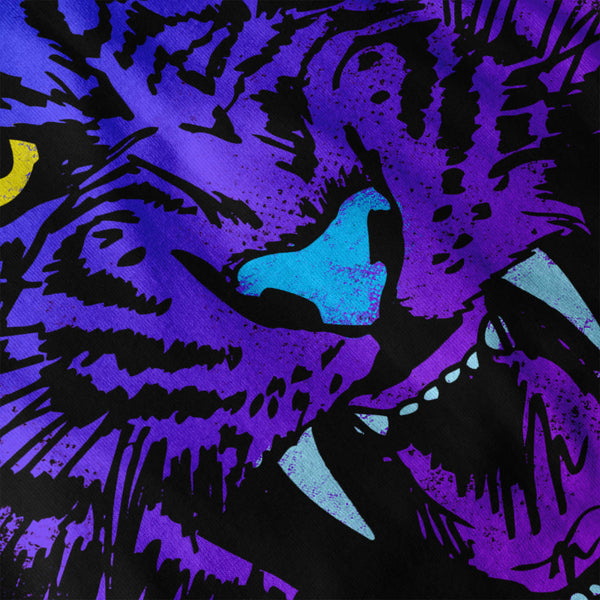 Purple Tiger Attack Womens T-Shirt