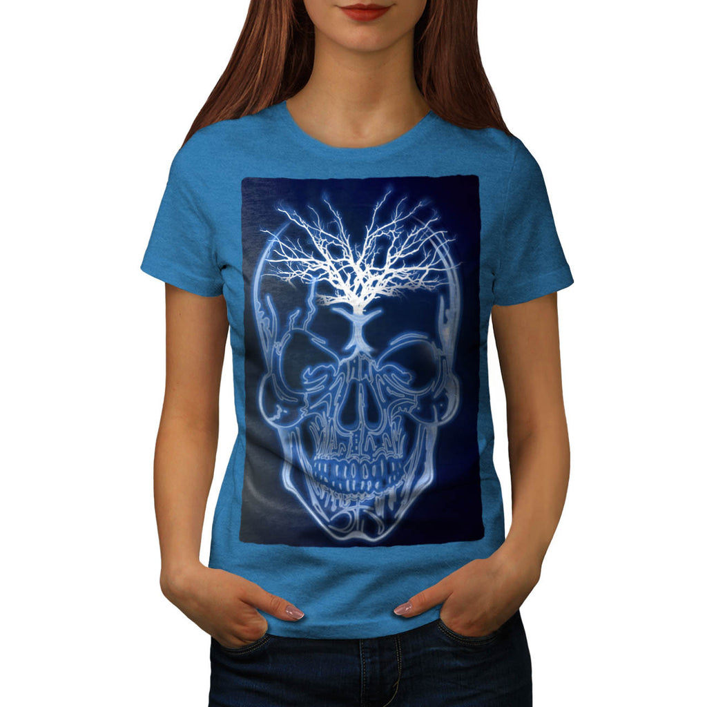 Skull Head Soul Glow Womens T-Shirt