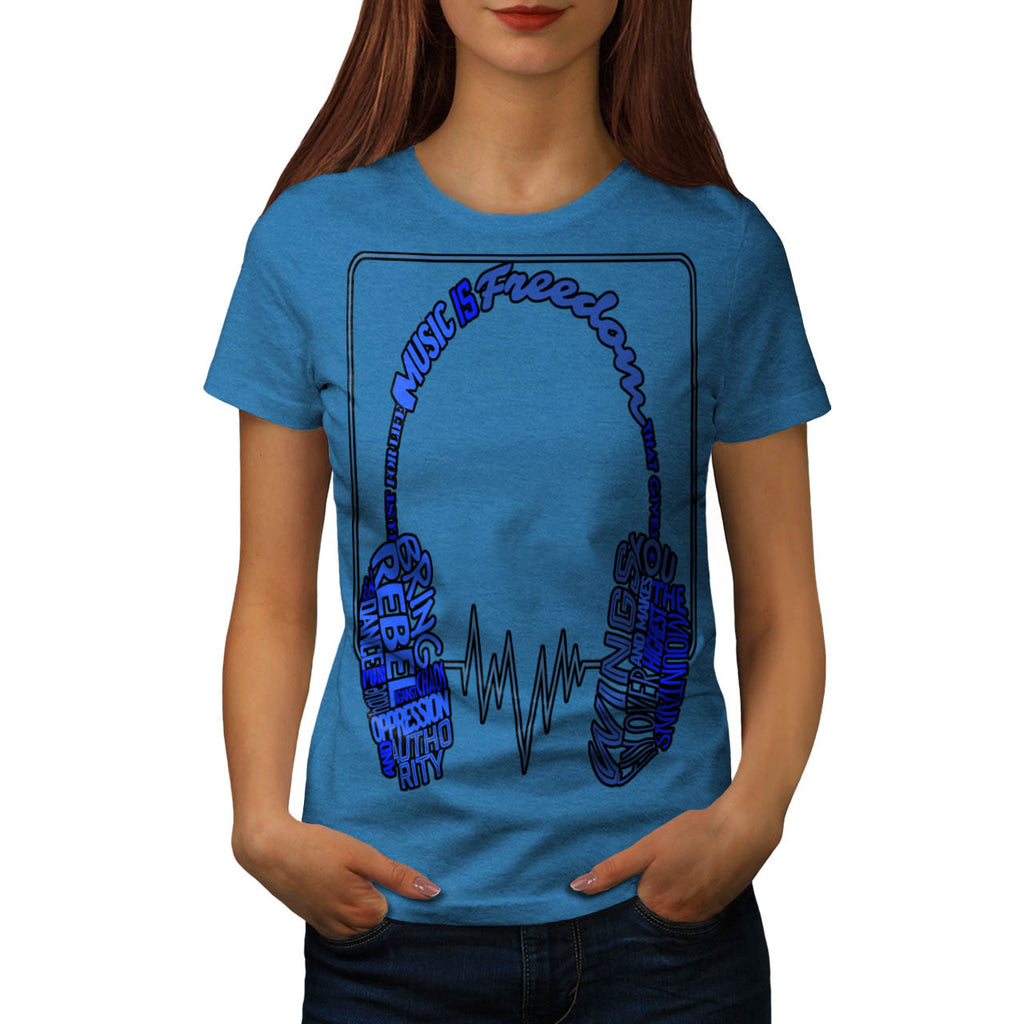 Music Is Freedom Zap Womens T-Shirt